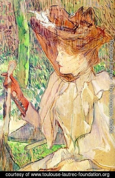 Toulouse-Lautrec - Portrait of Honorine Platzer (Woman with Gloves) 1891
