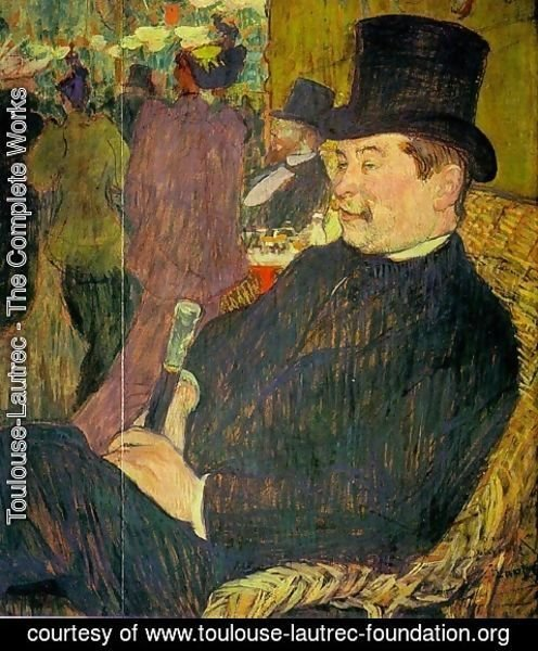 Toulouse-Lautrec - Portrait of Monsieur Delaporte at the Jardin de Paris 1893