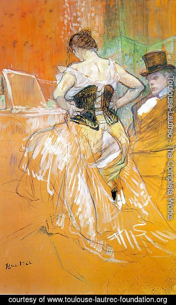 "Toulouse-Lautrec - Study for ""Elles"" (Woman in a Corset) 1896"