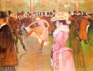 Toulouse-Lautrec - Training of the New Girls by Valentin at the Moulin Rouge 1889-90