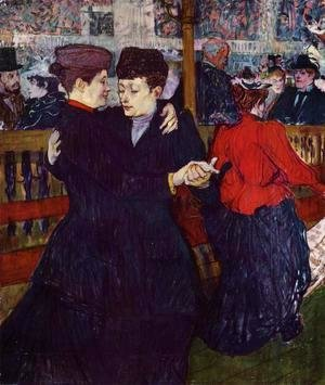 Toulouse-Lautrec - At the Moulin Rouge: the Two Waltzers
