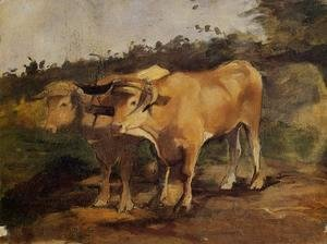 Toulouse-Lautrec - Two Bulls Wearing a Yoke