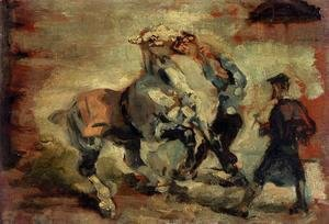 Toulouse-Lautrec - Horse Fighting His Groom