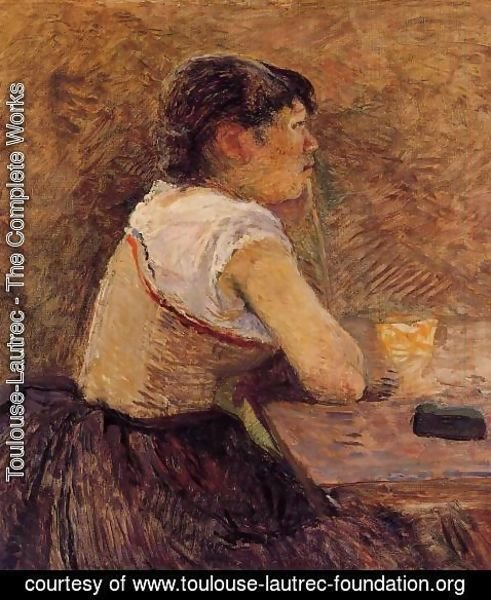 Toulouse-Lautrec - At Gennelle, Absinthe Drinker