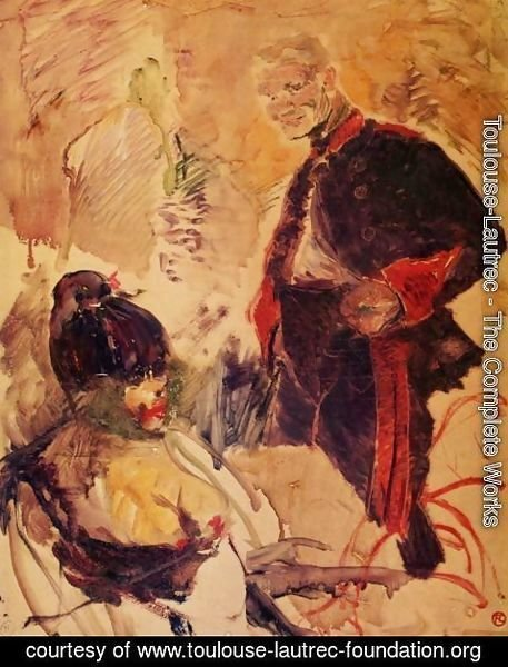 Toulouse-Lautrec - Artillerman and Girl