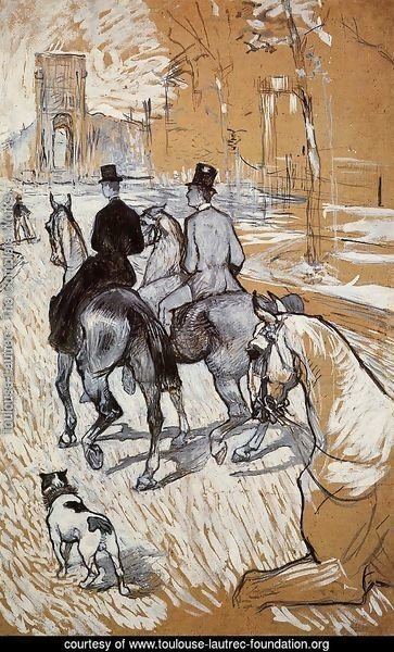 Horsemen Riding in the Bois de Boulogne