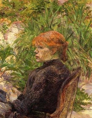 Toulouse-Lautrec - Red Haired Woman Seated in the Garden of M. Forest