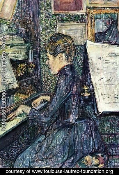 Toulouse-Lautrec - Mille. Dihau Playing the Piano
