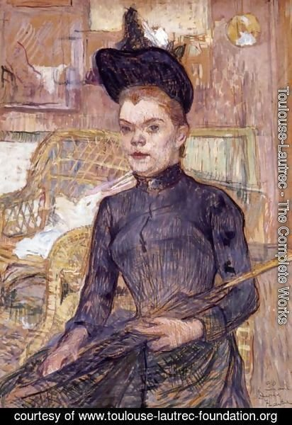 Toulouse-Lautrec - Woman in a Black Hat, Berthe la Sourde