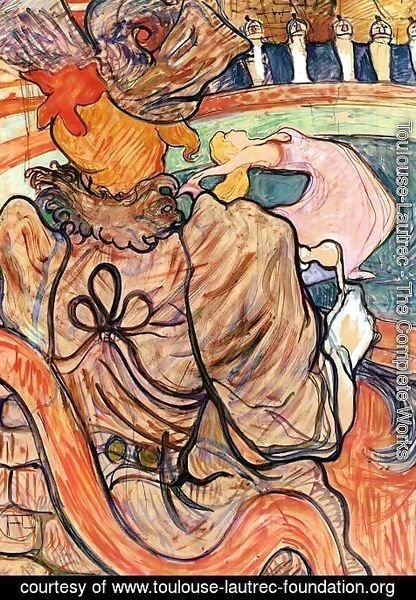 Toulouse-Lautrec - At the Nouveau Cirque: the Dancer and Five Stuffed Shirts