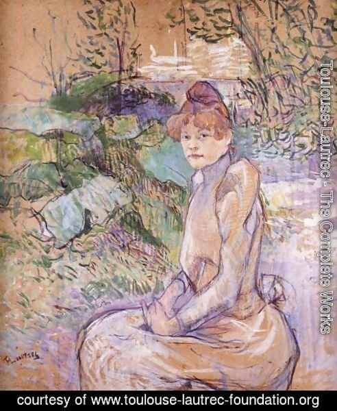 Toulouse-Lautrec - Woman in Monsieur Forest's Garden