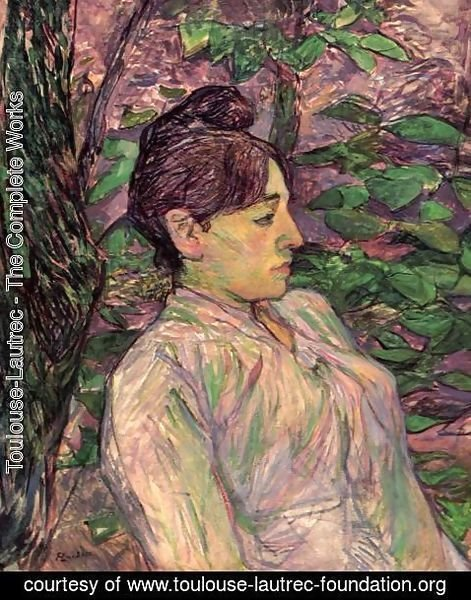 Toulouse-Lautrec - Woman Seated in a Garden