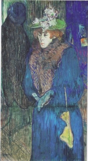Toulouse-Lautrec - Jane Avril Entering the Moulin Rouge