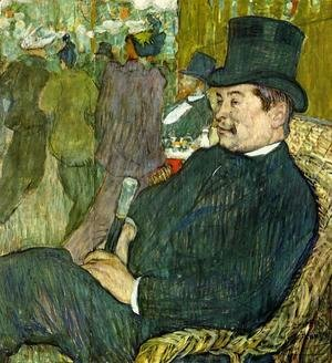 Toulouse-Lautrec - M. Delaporte at the Jardin de Paris