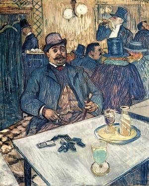 Toulouse-Lautrec - Monsieur Boleau in a Cafe