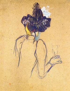 Toulouse-Lautrec - Jane Avril Seen from the Back