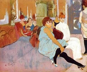 The Salon in the Rue des Moulins I
