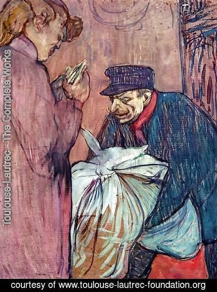 Toulouse-Lautrec - The Laundryman Calling at the Brothal