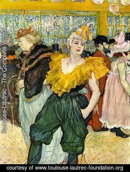 Toulouse-Lautrec - At the Moulin Rouge: The Clowness Cha-U-Kao