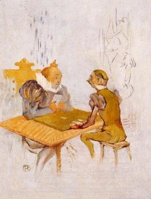 Toulouse-Lautrec - Le Belle et la Bete - Le Besigue