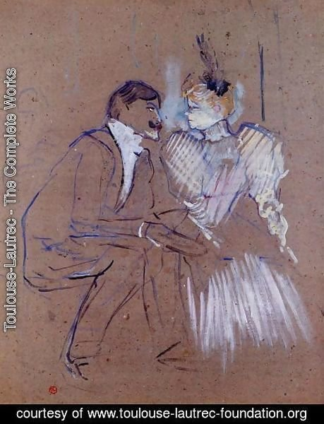 Toulouse-Lautrec - Lucien Guitry and Granne Granier
