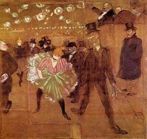 Toulouse-Lautrec - Le Goulue Dancing with Valentin-le-Desosse