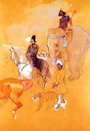 Toulouse-Lautrec - The Procession of the Raja
