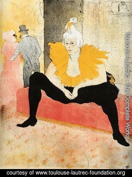 Toulouse-Lautrec - Elles: Cha-U-Kao, Chinese Clown, Seated