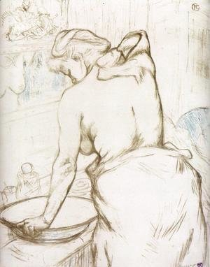 Elles: Woman at Her Toilette, Washing Herself