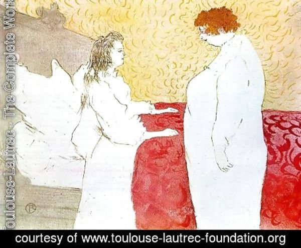 Toulouse-Lautrec - Elles: Woman in Bed, Profile, Getting Up