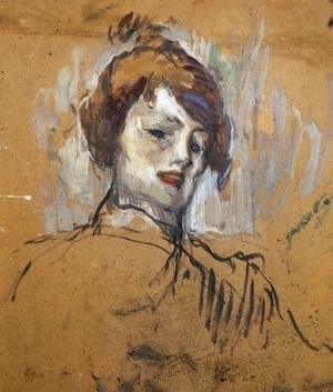 Toulouse-Lautrec - Head of a Woman