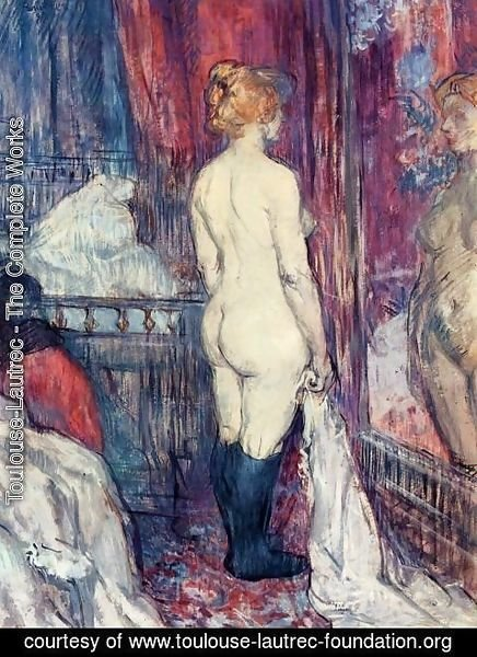 Toulouse-Lautrec - Nude Standing before a Mirror
