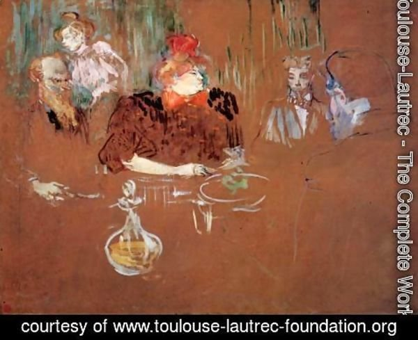 Toulouse-Lautrec - Dinner at the House of M. and Mme. Nathanson