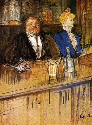 Toulouse-Lautrec - At the Cafe: The Customer and the Anemic Cashier