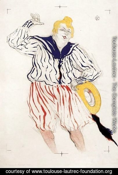 Toulouse-Lautrec - The Sailor's Sopng, at the 'Star', Le Havre