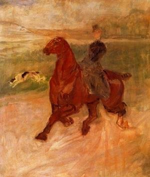 Toulouse-Lautrec - Horsewoman and Dog