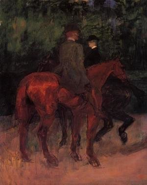 Toulouse-Lautrec - Man and Woman Riding through the Woods