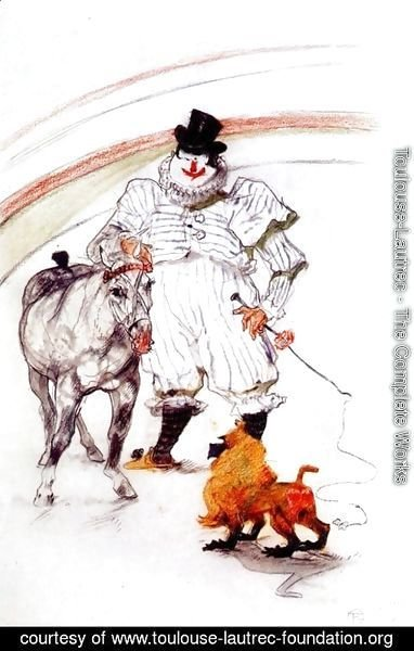 Toulouse-Lautrec - at the circus, horse and monkey dressage
