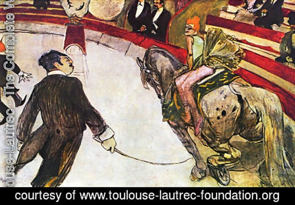 Toulouse-Lautrec - Equestrienne (at the cirque fernando)