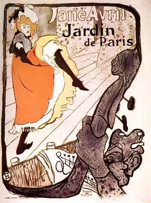 Toulouse-Lautrec - Jane Avril, Jardin de Paris