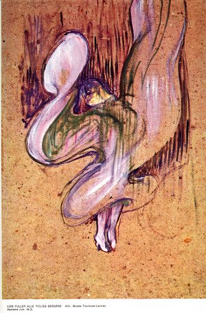 Toulouse-Lautrec - Loïe Fuller in the 'Folies Bergere'
