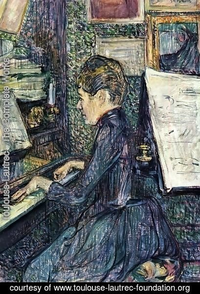 Toulouse-Lautrec - Mademoiselle Dihau Playing the Piano