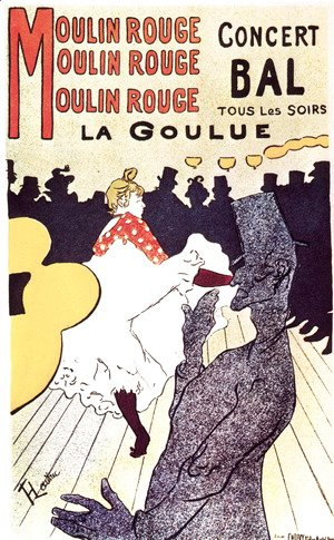 Toulouse-Lautrec - Moulin Rouge, the goulue