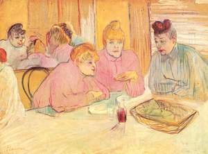 Toulouse-Lautrec - The ladies in the brothel dining-room