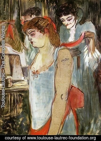 Toulouse-Lautrec - The Tatooed Woman