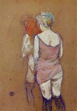 Toulouse-Lautrec - Two Half-Naked Women Seen from Behind