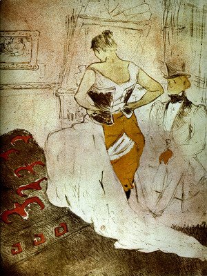 Toulouse-Lautrec - Woman bust or with passing conquest