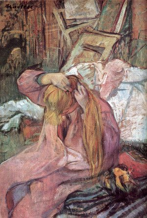 Toulouse-Lautrec - Woman combing her hair 2