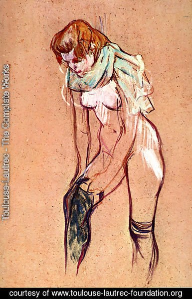 Toulouse-Lautrec - Woman Pulling up Her Stockings (study)