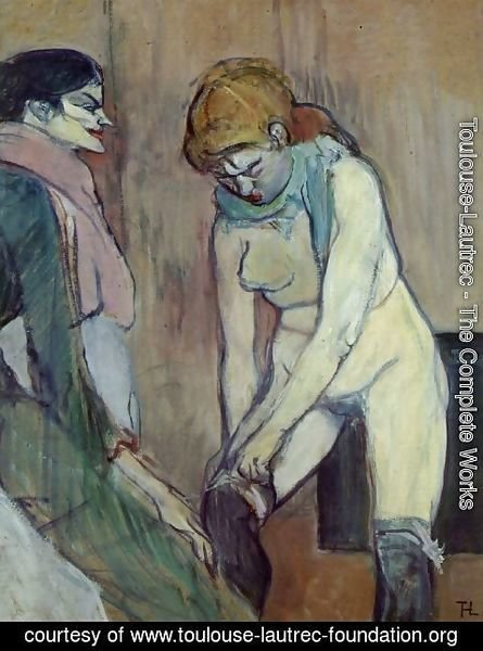 Toulouse-Lautrec - Woman Pulling up Her Stockings